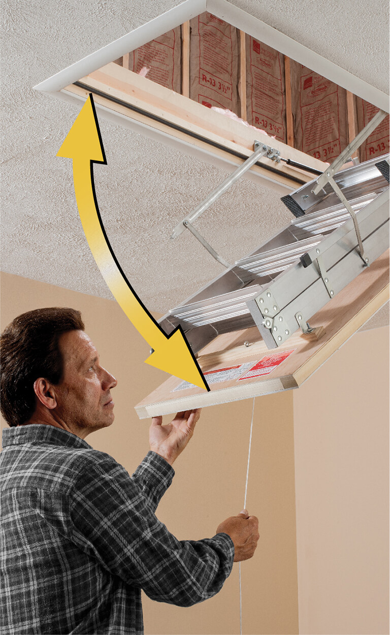 How to choose a Werner attic ladder - Swing Clearance