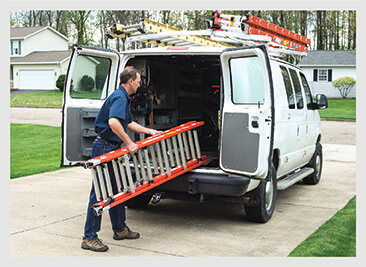 The Werner compact extension ladder is easy to carry and store