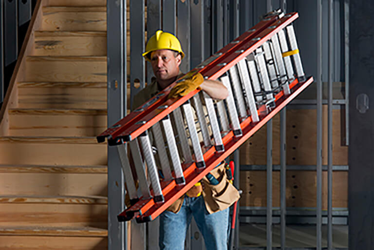 Werner compact extension ladders are lightweight and easy to carry