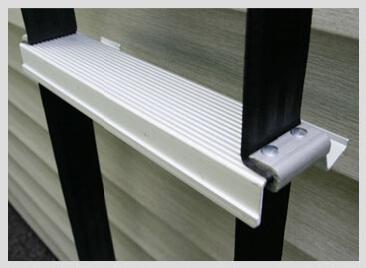 Werner Fire Escape Ladders feature flat, anti-slip rungs