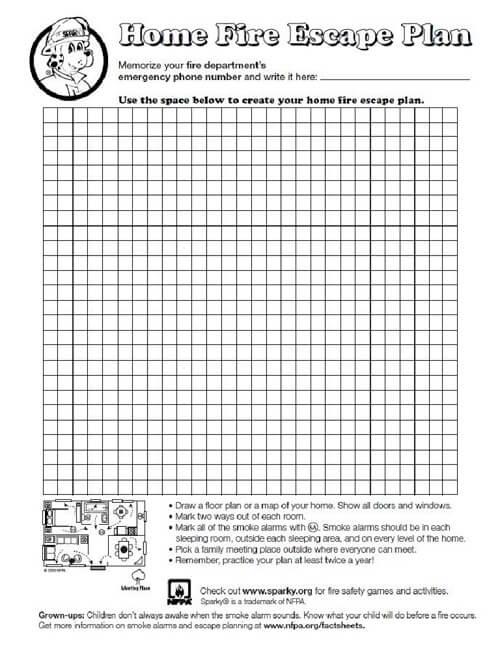 Werner Fire Escape Planning Grid