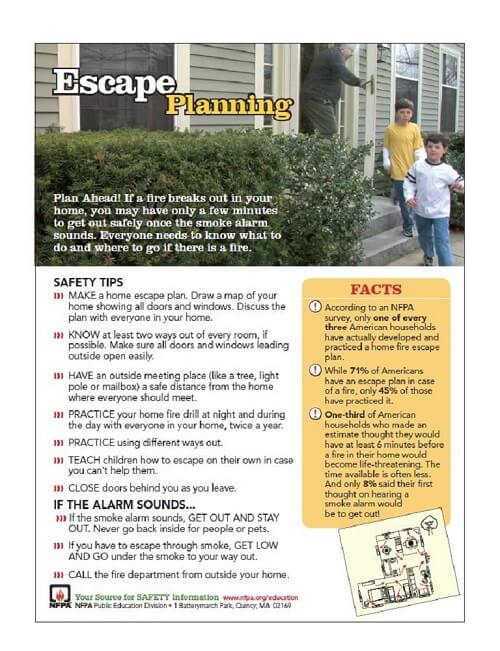 Werner Fire Escape Planning Tips