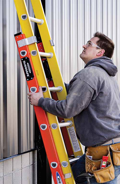 GLIDESAFE Extension Ladders