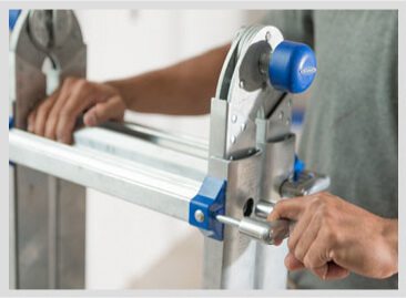Adjust the height of your Werner Multi-Purpose Ladder quickly and easily