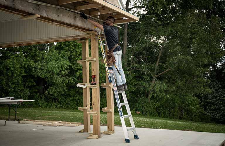 Aluminum LEANSAFE X3 - Straight Ladder