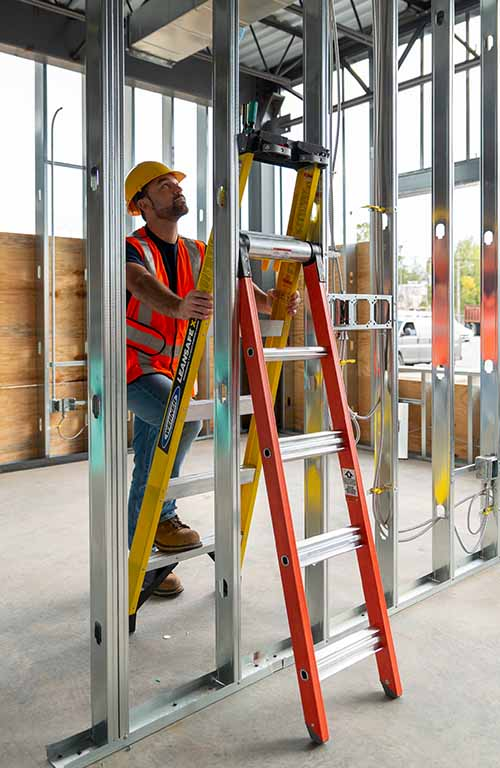 Werner LEANSAFE X3 Professional 3-in-1 Multi Position Ladder