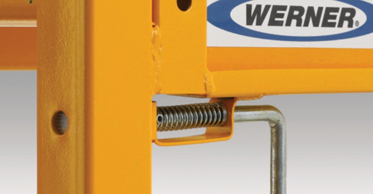 Werner Steel Rolling Scaffold work safely and securely