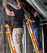 Werner fiberglass LEANSAFE leaning ladder