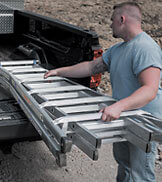 Werner multi-position ladders are easy to carry and transport