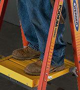 Werner fiberglass podium ladder platform