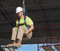 Werner ProForm fall protection harness seated position