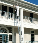Werner Aluminum Extension Ladder Worker
