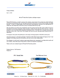 Werner Fall Protection DeCoil Shock Pack Letter