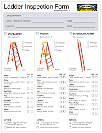 Werner Ladder Safety Inspection Form
