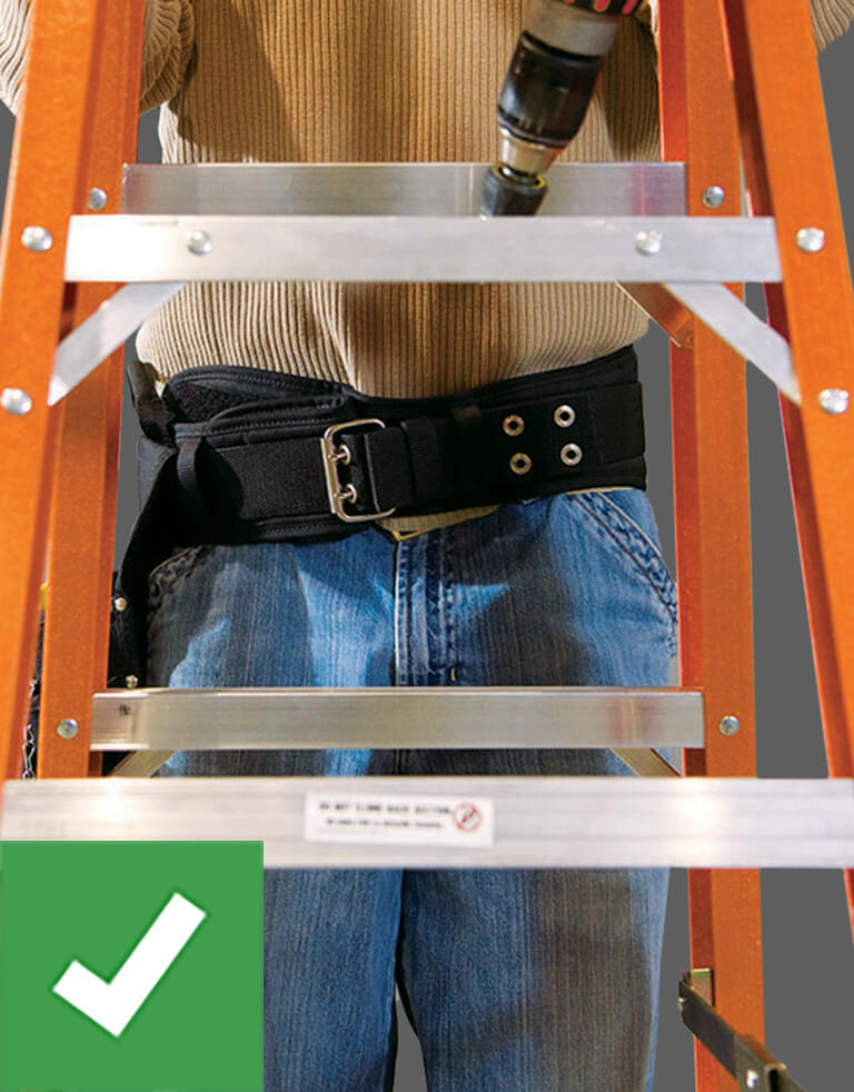 Werner Ladder Safety: Center Body on Ladder