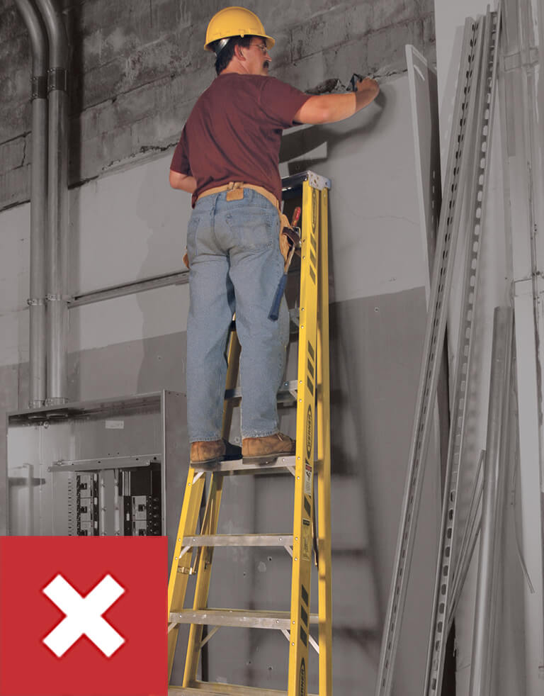Werner Ladder Safety: Do Not Climb a Closed Ladder