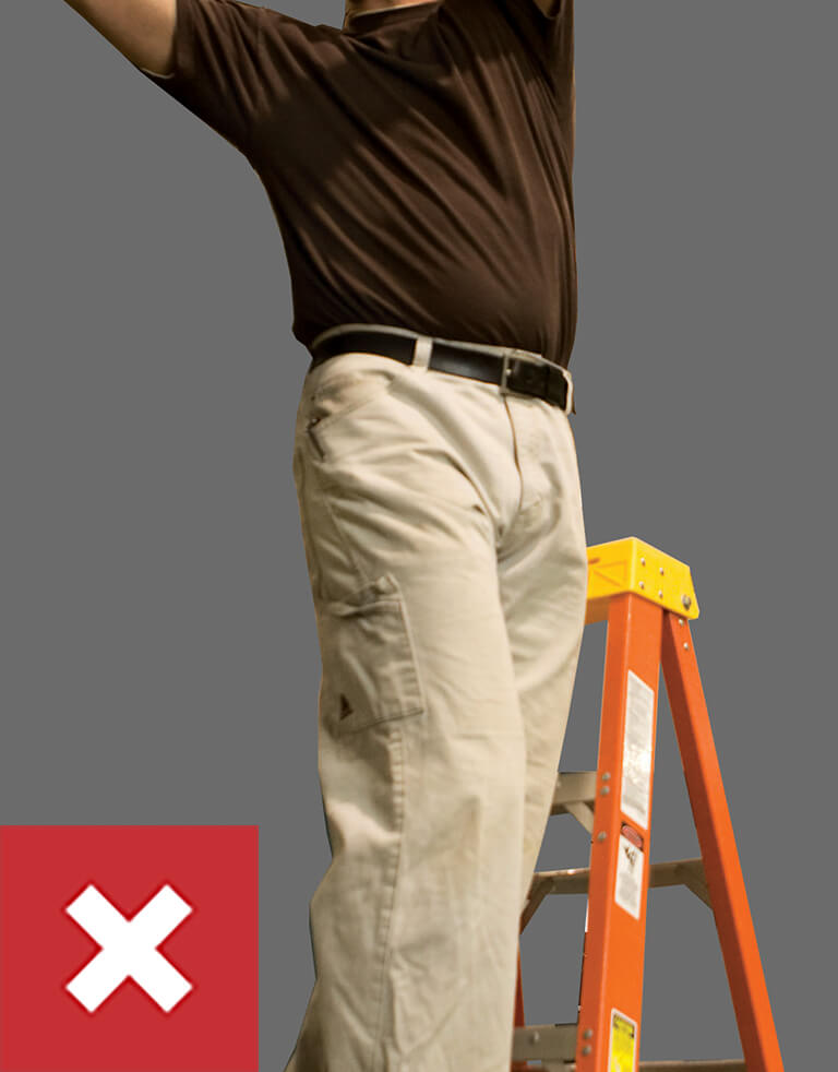 Werner Ladder Safety: Do Not Over-reach