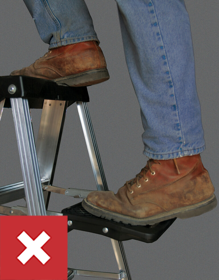Werner Ladder Safety: Do Not Stand on Pail Shelf