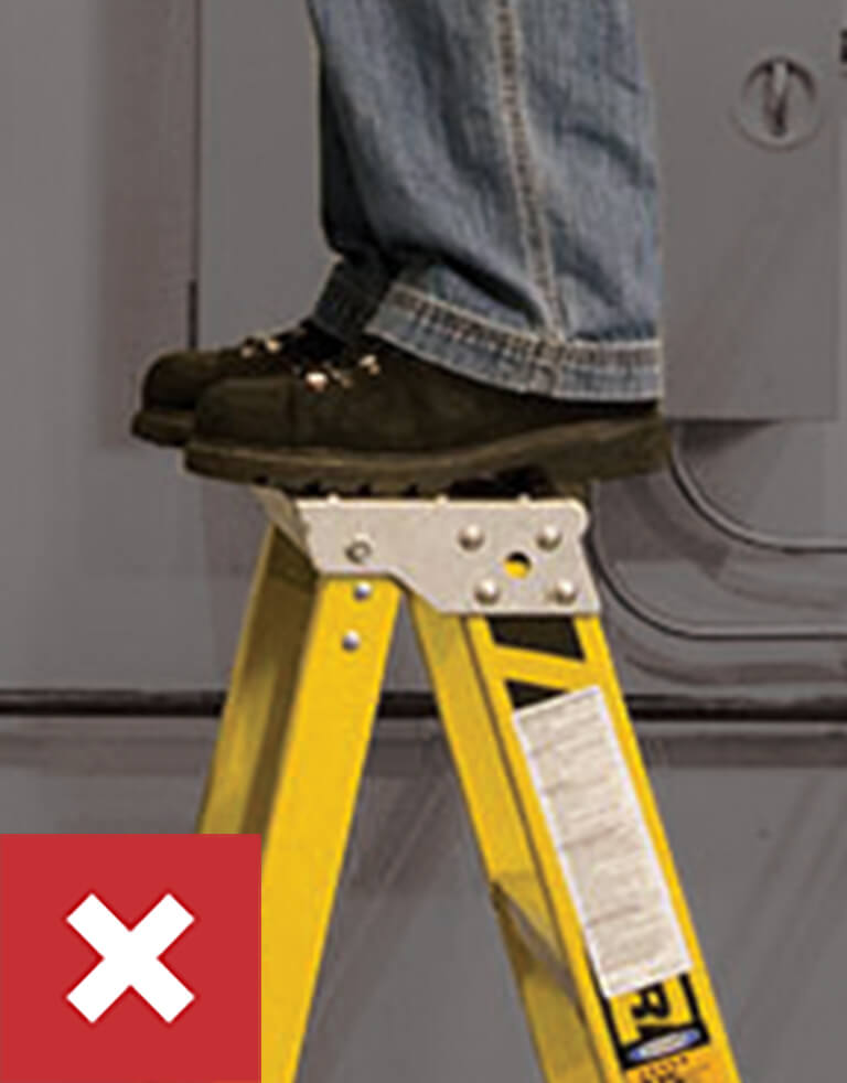 Werner Ladder Safety: Do Not Stand on Top Rung