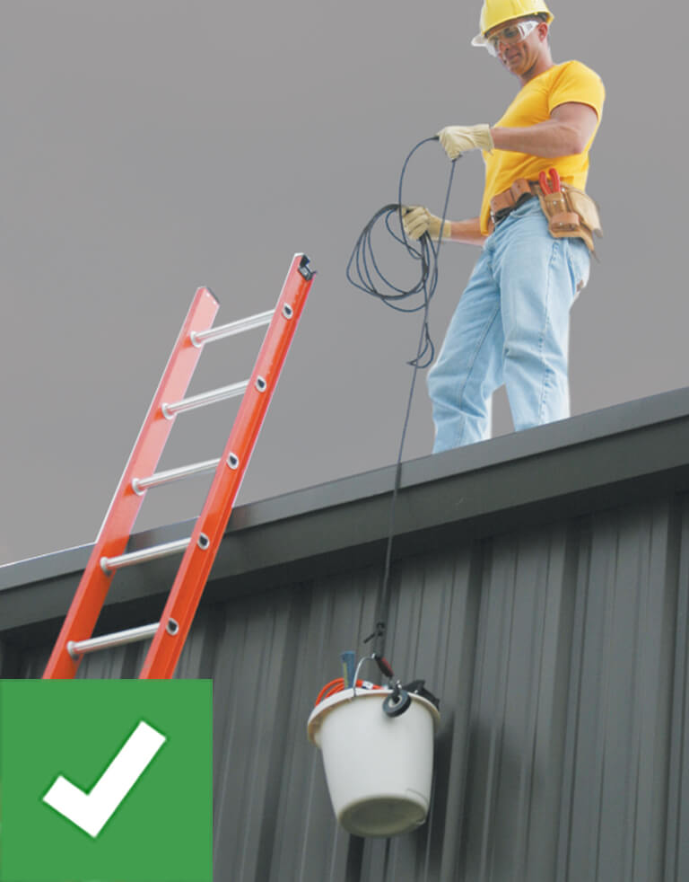 Werner Ladder Safety: Haul Materials with a Line