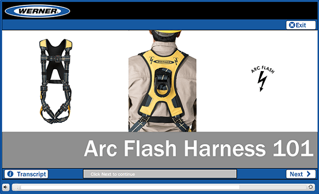 Werner Online Training: Arc Flash Fall Protection Harness 101