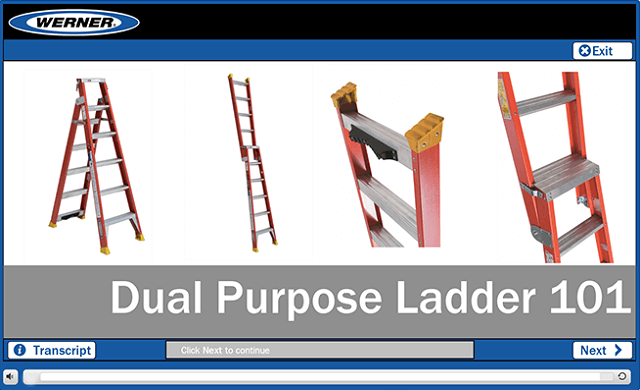 Werner Online Training: Dual Purpose Ladder 101