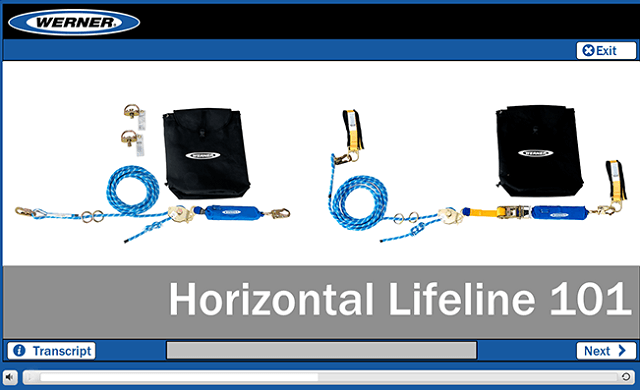 Werner Online Training: Fall Protection Horizontal Lifelines 101