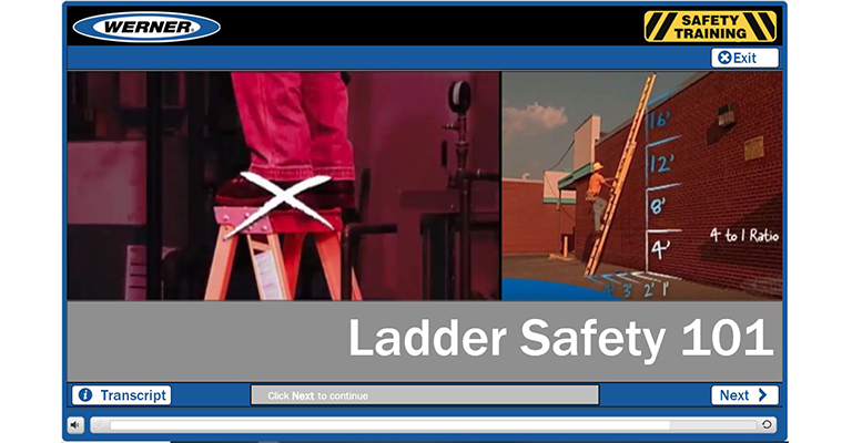 Werner Online Training: Ladder Safety 101