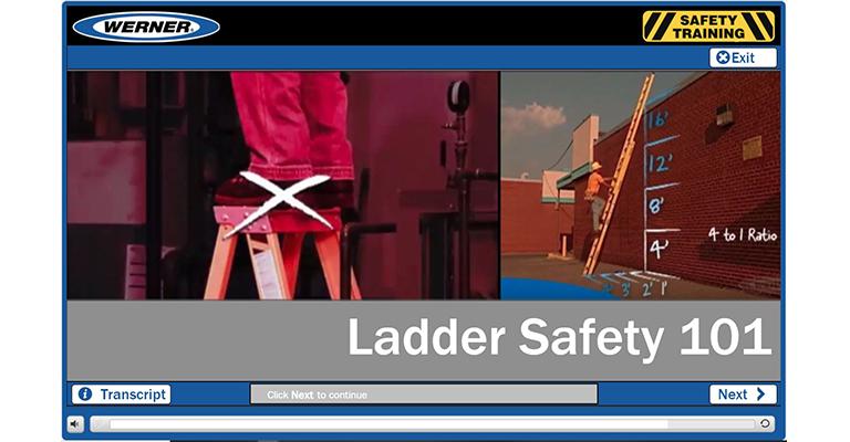 Werner Online Training: Ladder Safety 101