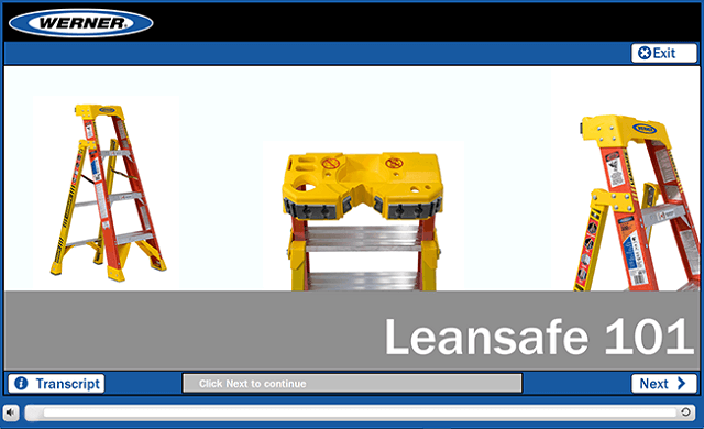 Werner Online Training: LEANSAFE Ladder 101