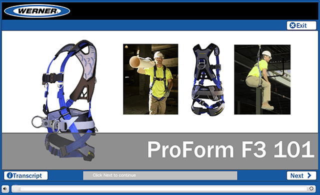 Werner Online Training: ProForm F3 Fall Protection Harness 101