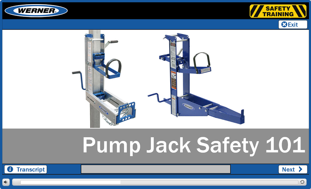 Werner Online Training: Pump Jack Safety 101