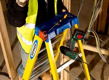 Werner Ladder Holster Top saves trips up the ladder