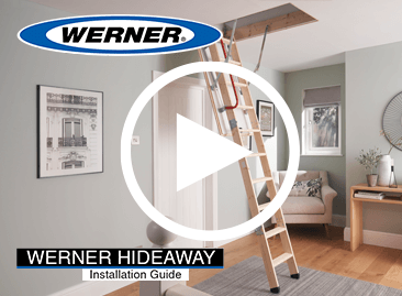 Watch Werner Hideaway Timber Loft Ladder step by step installation video