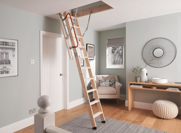 Werner Hideaway Timber Loft Ladder is fully assembled and ready to install.