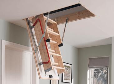 Werner Hideaway Timber Loft Ladder Space-saving Design