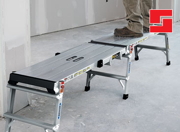 Werner Linking Work Platform with Large Work Surface - Watch Video