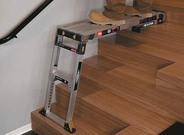 Werner Pro Work Platforms - Non-marking feet protects floor from damage