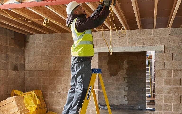 Werner Fibreglass Step Ladder Work Safely Around Electricity