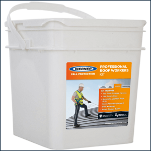 Werner EU Professional Roof Workers Kit Waterproof Storage Bucket