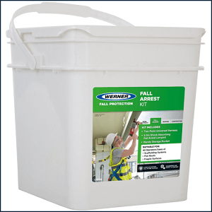 Werner Fall Arrest Kit waterproof storage bucket