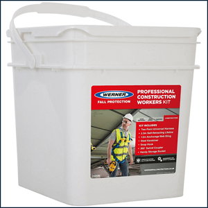 Werner Professional Construction Workers Kit Waterproof Storage Bucket