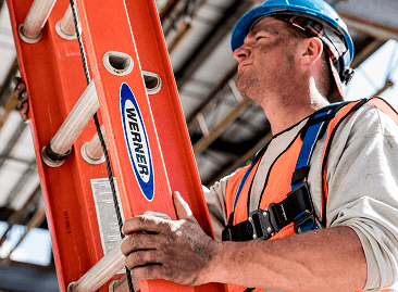 Werner Fibreglass Utility Extension Ladders