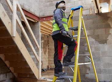Werner Fibreglass Platform Step Ladders
