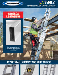 UK Werner SellSheet Professional Extension Ladders Aluminium Square Rung