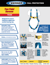 Werner SellSheet Two Point Harness 79206
