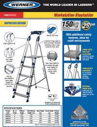 Werner SellSheet 705 Workstation Step Ladder