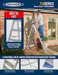Werner SellSheet 714 Builders Swingback Step Ladder