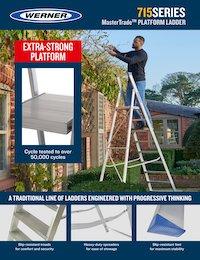 Werner SellSheet 715 Builders Platform Step Ladder