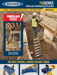 Werner SellSheet 716 Fibreglass Swingback Step Ladder